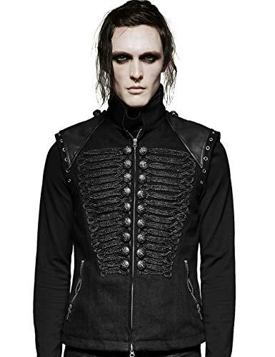 Chaleco de invierno para hombre, color negro, estilo militar Negro XL