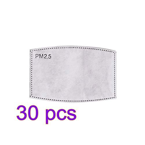 ANYIKE Pm2.5 geactiveerde filter gezichtsmasker filters, beste partner voor beschermend masker, deeltjesmasker filter 30 stuks