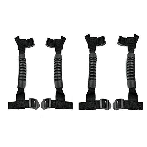 4 Pcs Rall Bar Grab Handles for Wrangler Heavy Duty Grip Handle Accessories