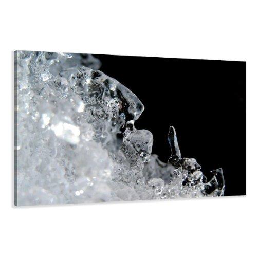 120 x 80 cm foto op canvas zwart wit ijs 5068-SCT Duits merk en stock - De foto's/de muurschildering/de kunstdruk is al ingelijst
