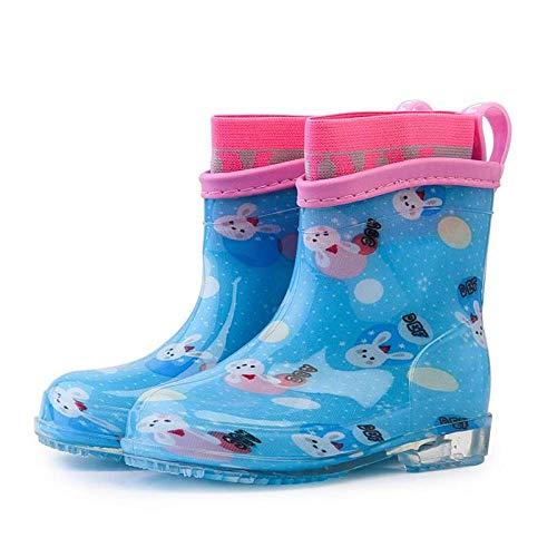 Regenstiefel Für Kinder Cartoon Kaninchen Attern Himmelblau Pvc Gummi Classic Trendy Niedlich Wasserdicht Warm...