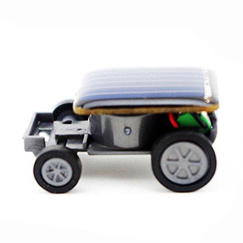 TUDUZ Kinder Spielzeug, Solar Power Tier Form Spielzeug für Kinder, Lehrreich Solarbetriebener Grashüpfer Solarmodell Solar Bausatz Gadget Geschenk (Auto, Schwarz)