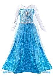 Blue Long Sleeve Dress Halloween Costume
