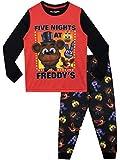 FIVE NIGHTS AT FREDDY'S Pijamas de Manga Corta para niños FNAF Rojo 6-7 Años