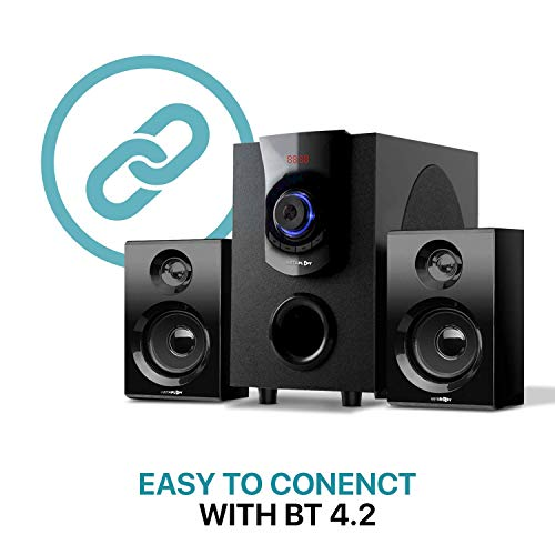 INSTAPLAY Thunder 2.1 Channel Home Theatre  Speaker With Bluetooth, Remote, USB, FM Radio & LED DISPLAY (Black)