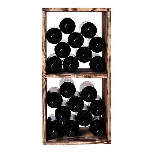 Dr.Sprayer Estantería de Vino Almacenamiento de Estante de Vino Cuadrado para Botellas de Vino en un Estante de Vino Hecho en Madera (Pino, 40 Botellas) (Color : Wood, Size : 24 Bottles)