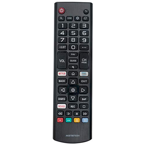 AKB75675304 Replace Remote Applicable for LG TV 55UM6900PUA 65UM6900PUA 43UM7100PUA 49UM7100PUA 55UM7200PUA 43UM7300PUA 43UM7310PUA 49UM7300PUA 50UM7310PUA 70UM7370PUA 50UM7400PUA 82UM7570PUB