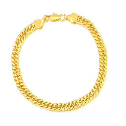 XXX Pulsera para hombre, chapada en oro de 18 quilates, 4 mm, 10 mm, regalo de cumpleaños