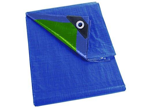 Perel Bâche Basic, 300 x 400 x 0,3 cm, Bleu/Vert, 254–34