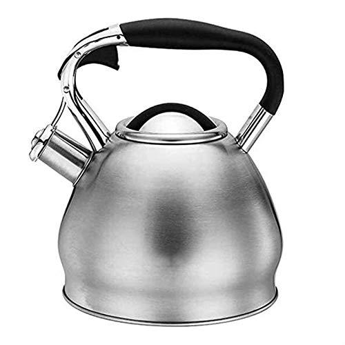 ASDFDG Estufa Top Tetera Tetera silbante con Mango antipselding 3L Teteras de té de Acero Inoxidable para cocinas de inducción Estufas de Gas de Estufas