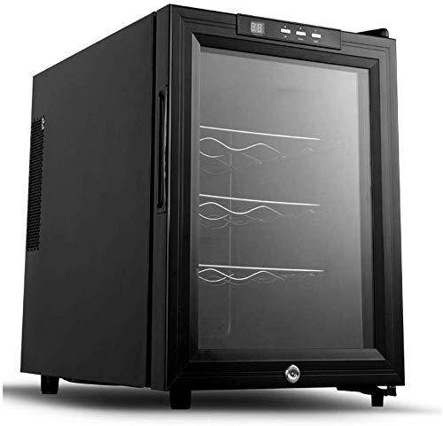 TYUIO Réfrigérateur et Boissons Cooler - 12Can Mini-réfrigérateur avec Porte en Verre for Soda bière ou de vin - Petite Boisson Machine Distributeur de Bureau ou Bar avec étagères Amovibles réglables
