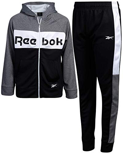 Reebok Boys 2-Piece Athletic Tricot Tracksuit Set with Zip...