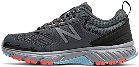 New Balance Women's 510 V5 Trail Running Shoe, Gunmetal/Wax Blue/Wax Blue, 8 M US