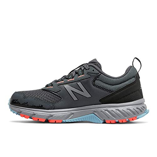 New Balance Women's 510 V5 Trail Running Shoe, Gunmetal/Wax Blue/Wax Blue, 8 W US