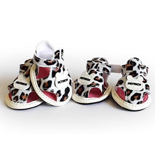BAYUE hond schoenen sandalen teddyberen pudel schoen laarzen luipaard schoenen anti- Skid hond schoenen huisdierbenodigdheden D1 voor puppy's Small Le