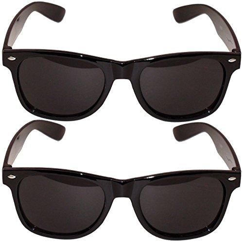 2 Ganovenbrillen Brille Gangster Sonnenbrille Kostüm Al Capone Komplettbrille