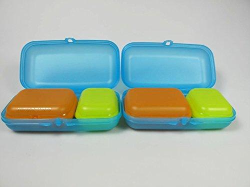 TUPPERWARE To Go Maxi-Twin blau(2)+ Twin (2) limette Gr.1+Twin orange (2) Gr.2