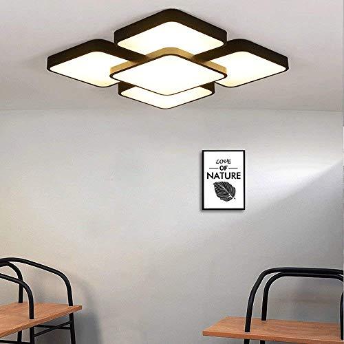 Plafonnier Lampes à LED Petit salon Plafonniers Lampe de chambre Lampe de salle de travail Lampe de plafond pour l'intérieur Luminaire de plafond pour appartement Luminaire 3 couleurs Dimmable Warm L