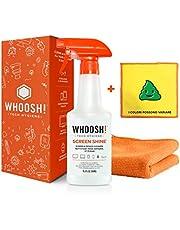 WHOOSH! Kit de limpiador de pantalla, ideal para teléfonos inteligentes, iPad, gafas, Kindle, pantalla táctil y televisores, incluye 1 unidad de 500 ml + 2 x de ancho
