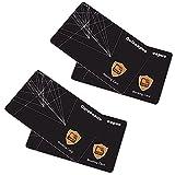 Guiseapue Protector de Tarjetas RFID contactless, NFC Bloqueo - Blocker Card - Tarjeta de Bloqueo de escáner y lectores para billeteras y Pinzas para Billetes (4 Piezas)