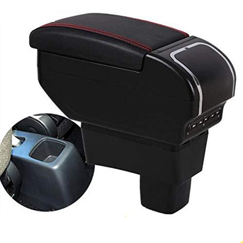 WANGLEISCC para Caja de reposabrazos Suzuki Swift,Accesorios de modificación de Consola Central de Coche Universal Doble Elevado con 9 USB 2005-2020