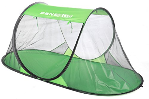 SANSBUG 1-Person Free-Standing Pop Up Mosquito Net (Poly Floor)