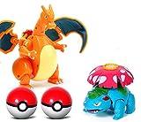 Juguete de Pikachu, Modelo de juguete de la variante de bola de elfo, mascota elfo venusaur charizard juguetes de bolsillo monstruos pop-up Variant de juguete modelo figura de acción regalo de juguete