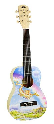 Luna AR2 NYL DRAGON Aurora 1/2 Acoustic Guitar, Nylon Dragon