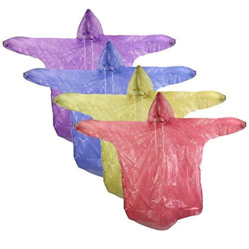 CENBEN 12pcs Impermeables Desechables Chubasqueros Impermeable Colores Poncho de Lluvia Poncho de Lluvia para Adulto Ideal para Viajes, Picnic, Deportes, Senderismo Ciclismo,etc