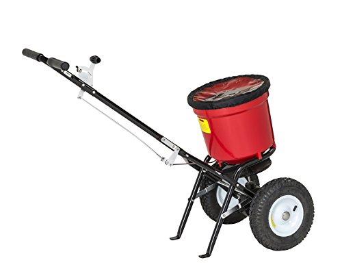 PROFI STREUWAGEN 21 Liter (22 kg), 3 m Streuweite, für Rasen, Dünger, Salz und mehr - Zentrifugalstreuer Salzstreuwagen Rasenstreuwagen Handstreuwagen Streugutwagen