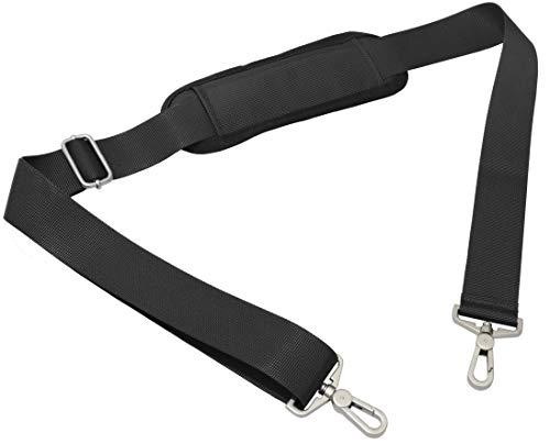 ショルダーベルト 肩パッド ショルダー ストラップ スペア 交換用 肩掛け ひも/PC バッグ・カメラケース・ビジネスバッグ・スポーツバッグ・ショルダーバッグ など (ブラック)