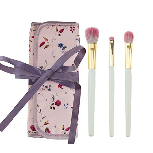 Pinceau de Maquillage Multifonctionnel 3pcs pinceaux de Maquillage Ensemble Fard à paupières Eyeliner correcteur Pinceau Set Mini Maquillage Brush Tool Kit