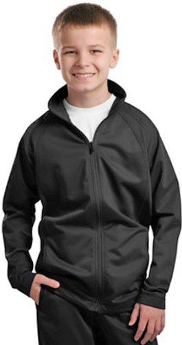 Sport-Tek Boys' Tricot Track Jacket - True Red/White YST90 XL