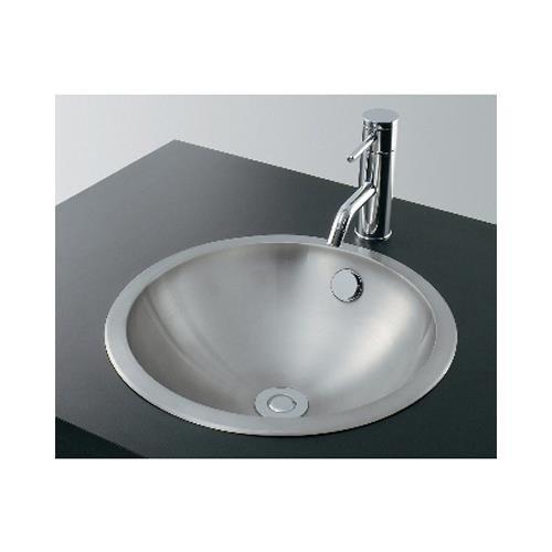 カクダイ ステンレス丸型洗面器ヘアライン 493−040 (03217157−001)