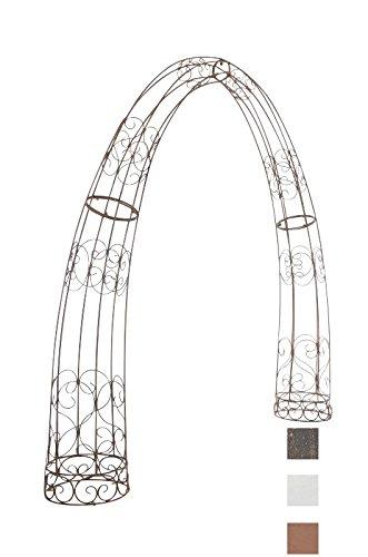 CLP XXL-Rosenbogen TOSKANA   Rankhilfe aus Eisen   Romantischer Rankenbogen erhältlich, Farbe:antik braun