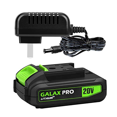 GALAX PRO 20V MAX 1.3Ah LithiumIon Battery Pack and Quick Charger, Replacement Battery for GALAX PRO Cordless Drill & Power Tools