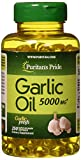 Best Garlic Supplements - Puritans Pride Garlic Oil, 5000 Mg, 250 Count Review