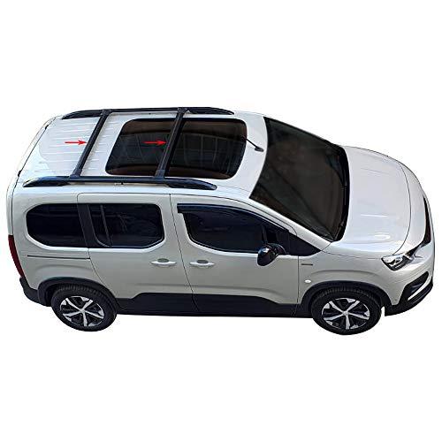 accessorypart Para Peugeot Rifter 2019-2020 Barras de techo Aluminio Negro