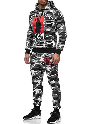 Code47 Chándal para hombre, de boxeo, de camuflaje Color blanco. M