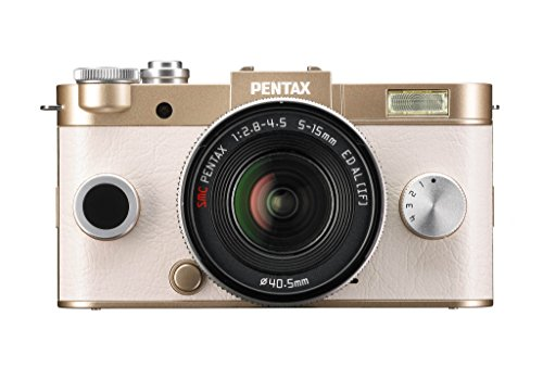 Pentax Q-S1 Systemkamera (12 Megapixel, 7,6 cm (3 Zoll) HD-LCD-Display, bildstabilisiert, DRII Dust Removal System, Full-HD-Video, HDMI) Double Zoom Kit inkl. 5-15mm und 15-45 mm Objektiv gold