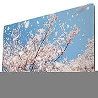 マウスパッド 大型 ゲーミング デスクマット 桜 花見 咲く 散る 風 写真 かわいい 防水性 耐久性 滑り止め 多機能 超大判 40cm×75cm
