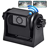 Oyviny WiFi Magnetic Wireless Backup Camera Rechargeable Trailer Hicth Rear View Camera for Hooking up Gooseneck Horse/Boat/Travel Trailer and Fifth Wheel, Support IOS and Android System, Night Vision