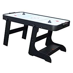FREE DELIVERY TO UK MAINLAND (EXCLUDES HIGHLANDS AND ISLANDS) Deluxe 5ft Folding Air Hockey Table - All accessories supplied Powerful mains fan delivers constant air supply Inbuilt cabinet for storage of accessories Quick folds system for space savin...