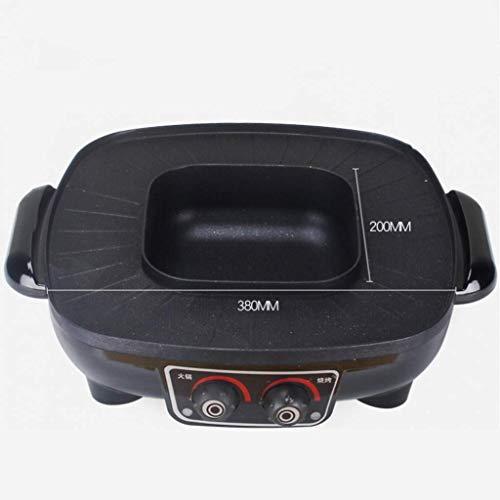 Ménage Poêle Antiadhésive Grande Capacité Coréenne Hot Pot Barbecue Intégré Électrique Barbecue Hot Pot Multi-Fonction sans Fumée Barbecue Machine
