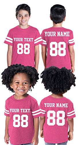 Custom Cotton Toddler Youth Jersey - Personalize Your 2 Sided Team Uniform Hot Pink
