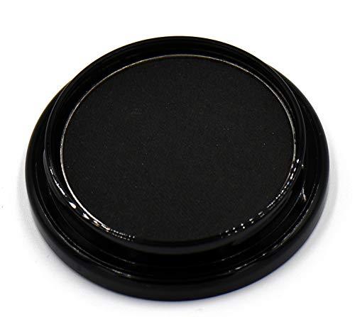 Black Matte Opaque Smokey Eye Onyx Midnight Zero Jet Black Pressed Powder Eye Shadow Eyeshadow Talc...