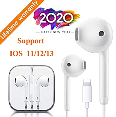 Lighting Connector Earbuds Earphone Wired Headphones Headset with Mic and Volume Control,Isolation Noise,Compatible with Apple iPhone 11 Pro Max/Xs Max/XR/X/7/8 Plus Plug and Play Telescope Eyepieces