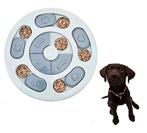 Smart Pet ペット 知育玩具 犬 猫 早食い防止 ペットトレーニング パズルボウル IQ UP! ゲーム おもちゃ Pet Bowl (Round BLUE)