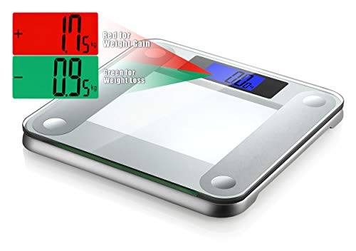 Ozeri Precision II 440 lbs (200 kg) Bath Scale with 50 Gram Sensor Technology (0.1 lbs/0.05 kg) & Weight Change Detection