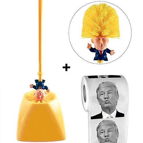 Szl Donald Trump Bürste WC-Zubehör Set Bürstenhalter Original-WC Machen Sie WC Great Again Commander in Mist Bad Reinigungsbürste